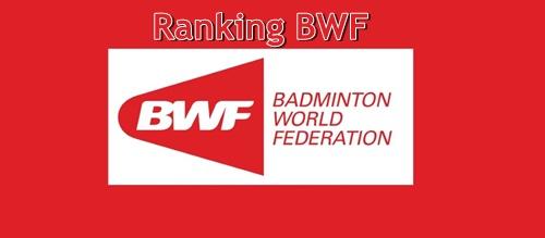 Badminton BWF Ranking Week 30 (2018)