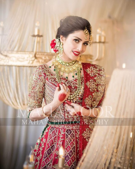 Ayeza Khan (Aiza) Latest Bridal Shoot