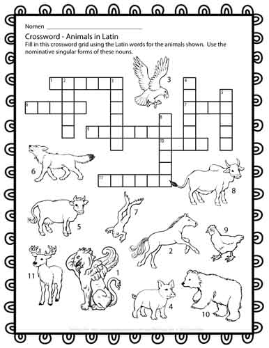 The Puzzle Den: Latin Puzzles for First Year Students