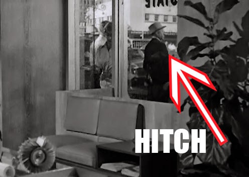 Image result for hitchcock cameo in psycho