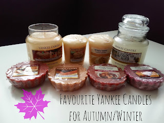 Favourite Yankee Candles for Autumn/Winter