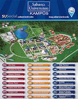 Sabancı Üniversitesi kampüsü yerleşim planı