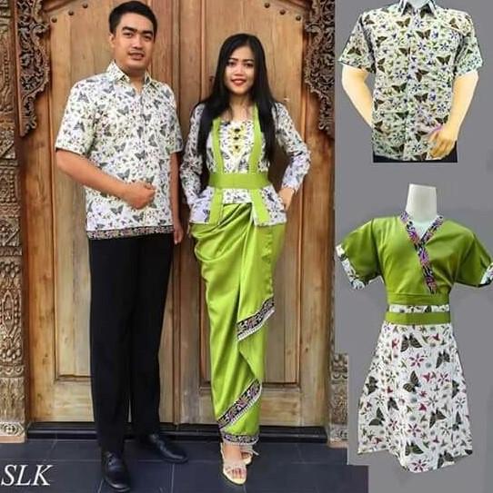Batik Kerja Couple Terbaru: 30+ Model Baju Kebaya Batik Couple Modern Terbaru 2020