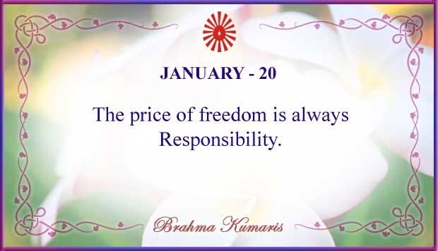Thought For The Day January 20