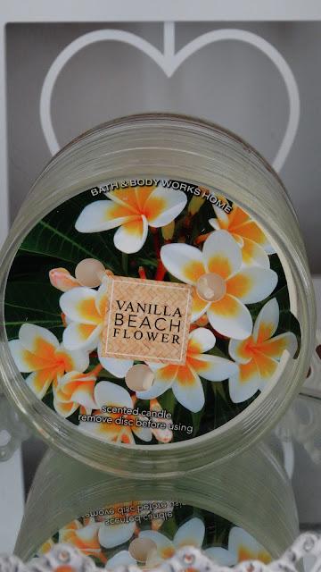 avis Vanilla Beach Flower de Bath & Body Works , blog bougie, blog parfum, blog beauté
