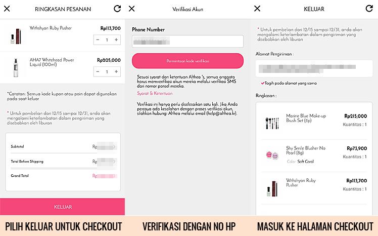 Belanja Dengan Aplikasi Althea