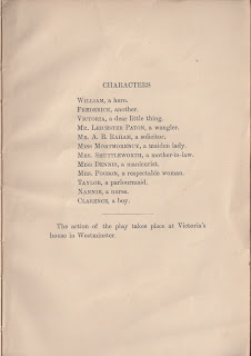 Home and Beauty by W. Somerset Maugham First edition, 1923. Character list.