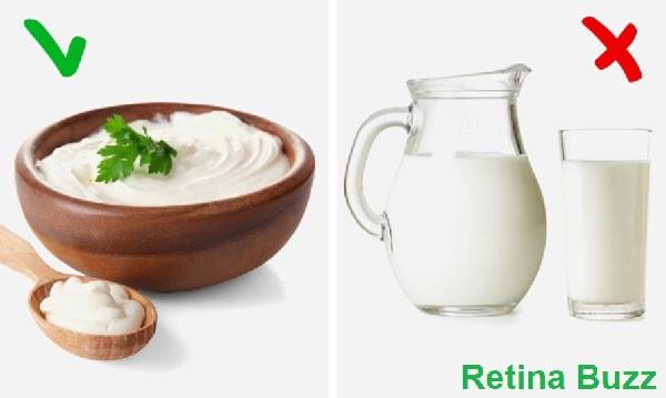 الزبادي و الحليب
