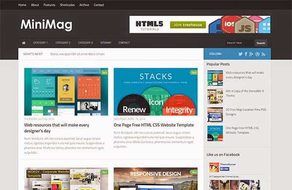 MiniMag Blogger Template by MirazMac.Info