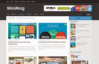 MiniMag Responsive Blogger Template