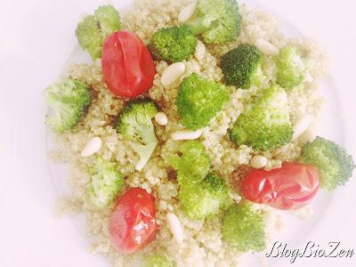 Méli-mélo quinoa et légumes vapeur - quinoa alteréco