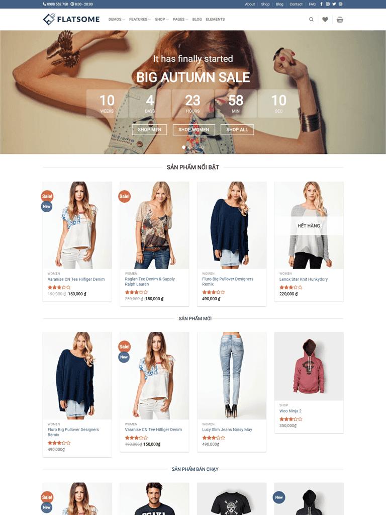 Template blogspot bán hàng Flatsome Classic Shop chuẩn seo - Ảnh 1