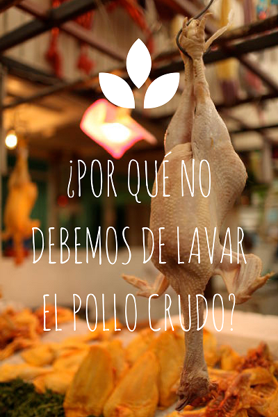 pollo, lavar pollo, lavar pollo crudo, seguridad alimentaria, veterinaria, industria alimentaria