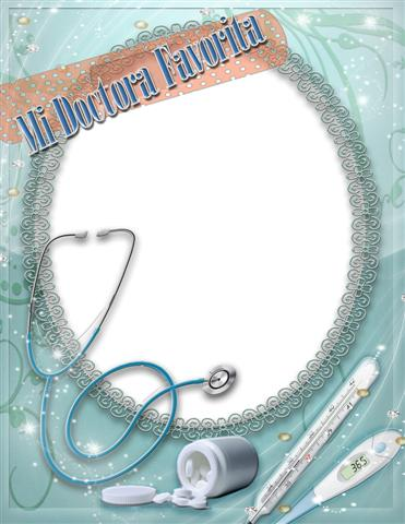 Marco digital para fotos para el día del medico
