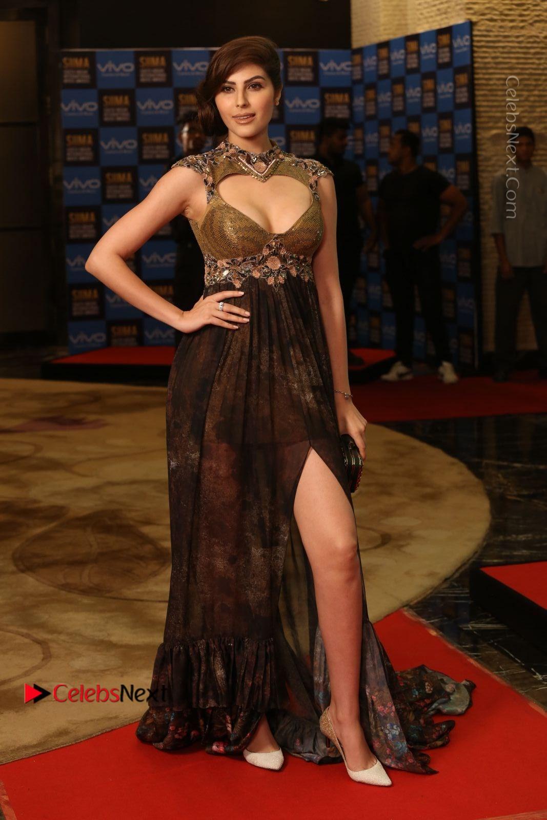 Naaz Norouzi Spicy Photos in Leg Spit Dress at SIIMA Short Film Awards 2017