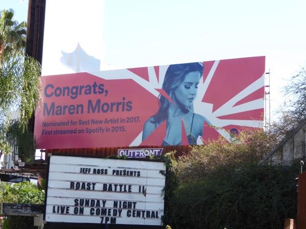 Congrats Maren Morris Spotify billboard