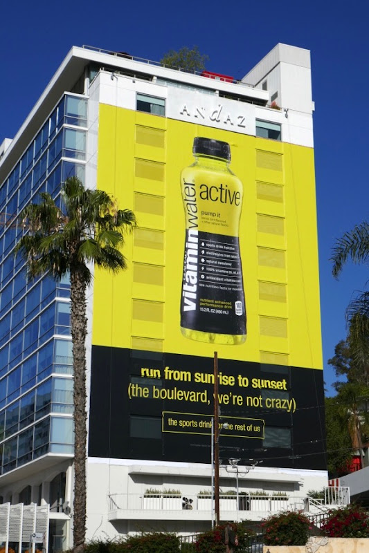 Vitamin Water Active Run Sunrise to Sunset billboard