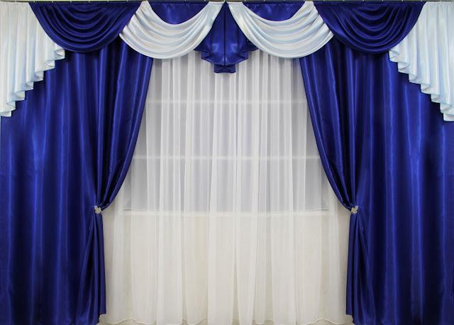 шторы синего цвета
