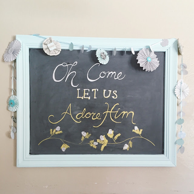 Chalkboard Paint Above Kitchen Cabinets