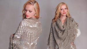 Fantástico mantón tejido al crochet