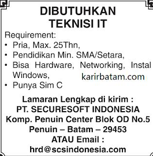 Lowongan Kerja PT. Securesoft Indonesia