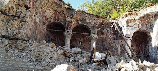 Post-Byzantine monastery collapses in southern Albania
