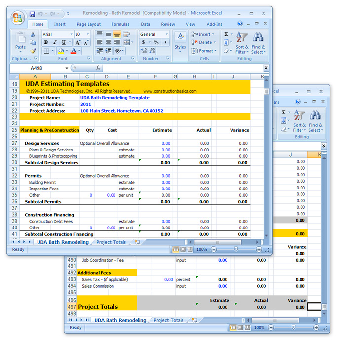 construction hub  extensive lists of free estimating