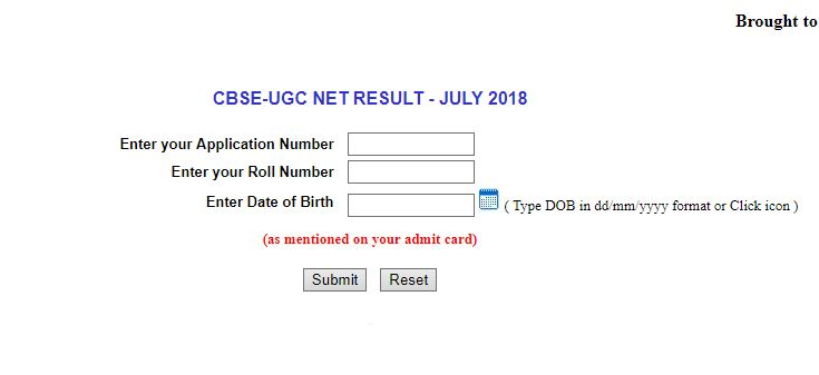 cbse ugc net july results 2018 check results. how to check results