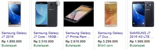 Harga Samsung J7 Terbaru 2018 tokopedia