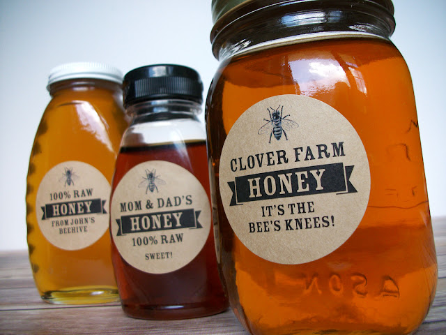 custom honey bottle labels