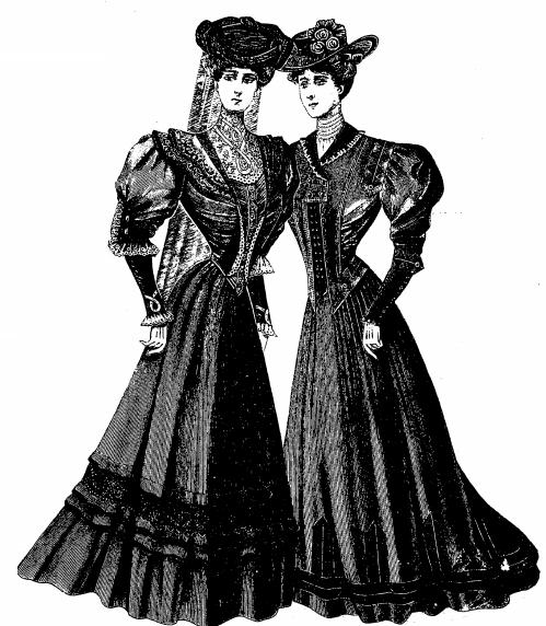 старинное траурное платье