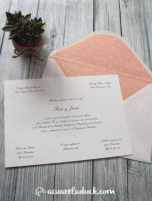 invitación boda plumeti