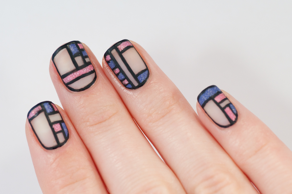 40 Great Nail Art Ideas - Pink and Lilac - May contain traces of polish