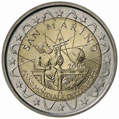 2 euro San Marino 2005, World Year of Physics 2005