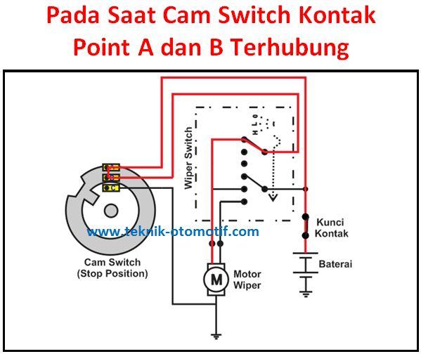 Cara Kerja Motor Wiper Saat Switch Wiper Diputar Pada Posisi Off