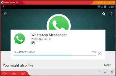 Droid4x WhatsApp Install