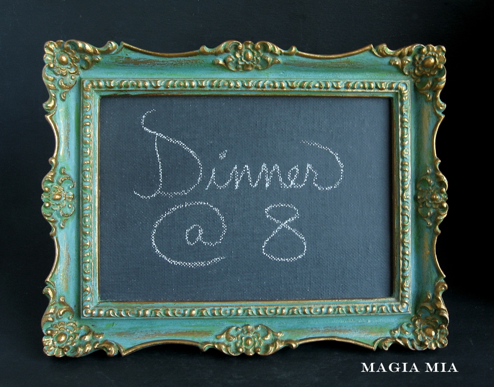 9cd15d5e6788 Magia Mia  Chalk-painted Frame Chalkboard   First Dibs to my Readers