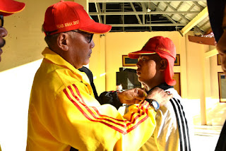 Wabup Bima Pimpin Upacara Penerimaan  Calon Anggota Paskibraka Kabupaten Bima