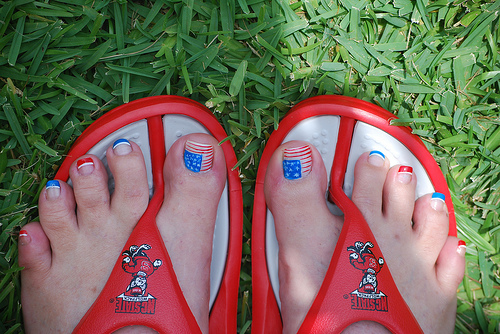 MS. TATTOOED HOMEBODY: RED WHITE AND BLUE