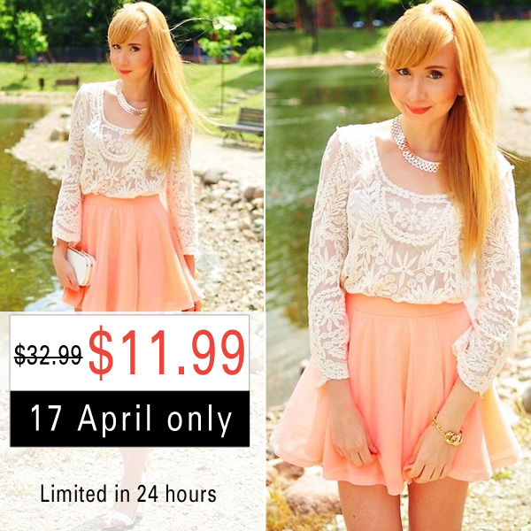 Romwe White Lace Blouse