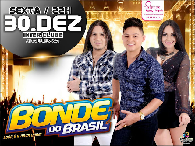 Está chegando a hora! Dia 30 o Show do Ano no Inter Club com Bonde do Brasil