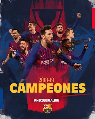 FC Barcelona La Liga Champions 2018-2019