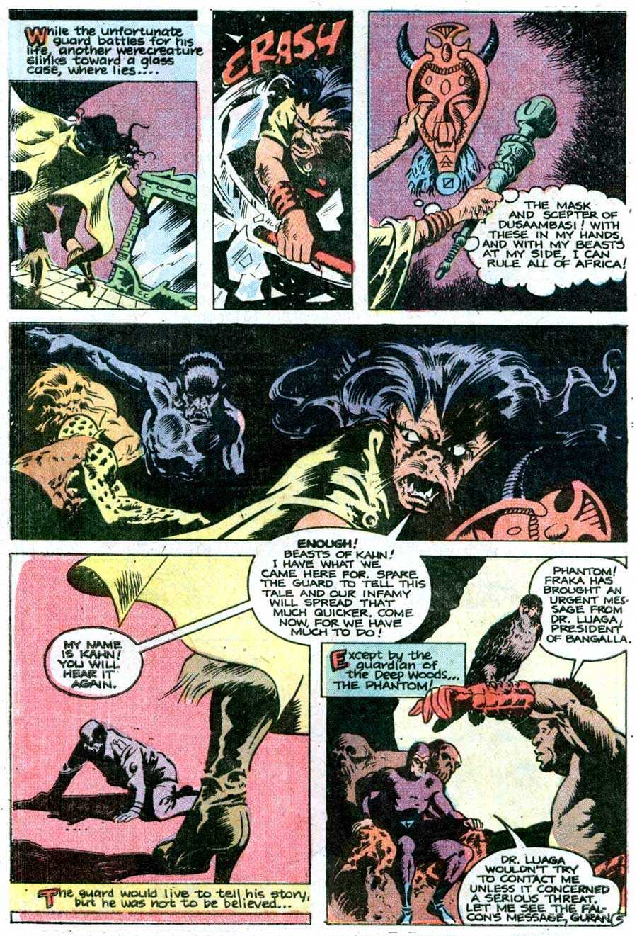 The Phantom v2 #68 charlton comic book page art by Don Newton