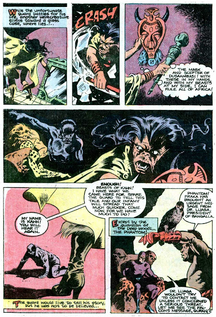 The Phantom v2 #68 charlton comic book page art by Don Newton