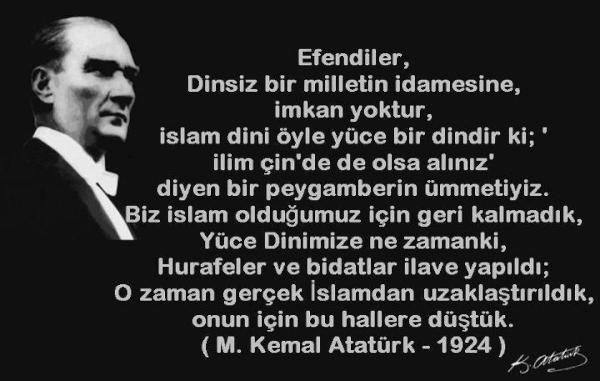 Atatürkün Bölücülükle İlgili Sözleri