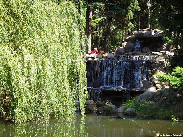 Sztuczny wodospad Park Skaryszewski Lato 2016