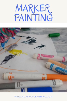 Marker Painting: Easy Preschool Process Art