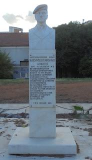 η προτομή του Νικόλαου Κατούντα στην Καλαμάτα