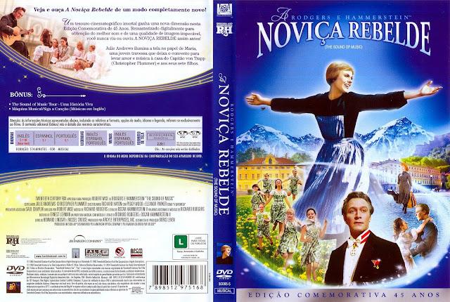 Capa DVD A Noviça Rebelde [45 anos]