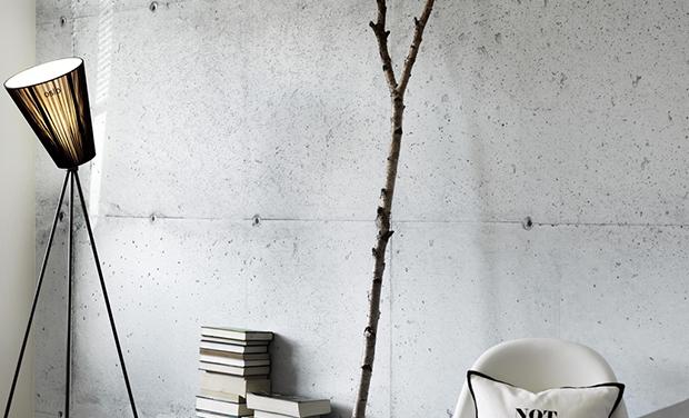 papier peint imitation beton. Black Bedroom Furniture Sets. Home Design Ideas